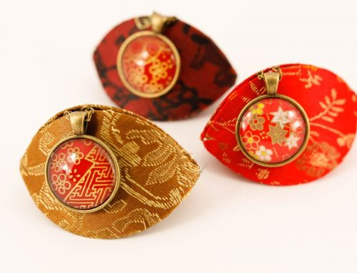 Unique handmade washi paper jewellery