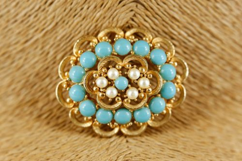 sphinx-turquoise-brooch
