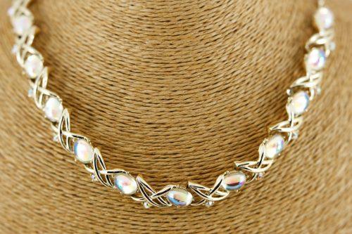 opaline moonstone glass necklace