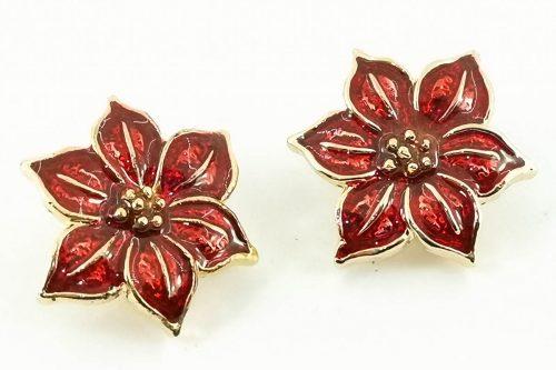 poinsettia-earrings