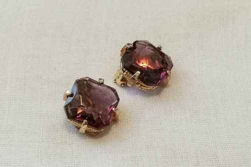purple-glass-earrings