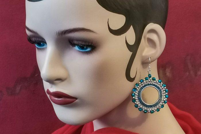 blue-hoop-earrings