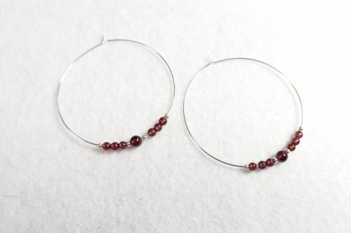 garnet-hoop-earrings
