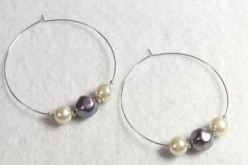 purple-pearl-hoop-earrings