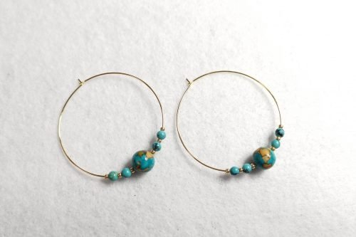 turquoise-hoop-earirngs