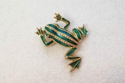 sardi frog brooch