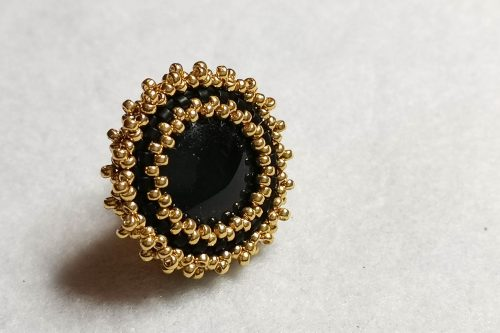black-gold-brooch