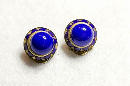 blue-glass-brass-earrings