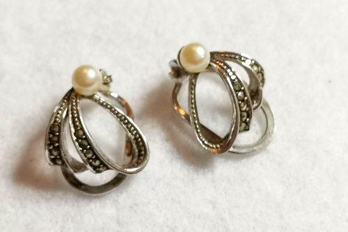 pearl-marcasite-earrings
