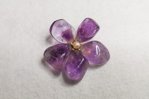 amethyst-flower-brooch