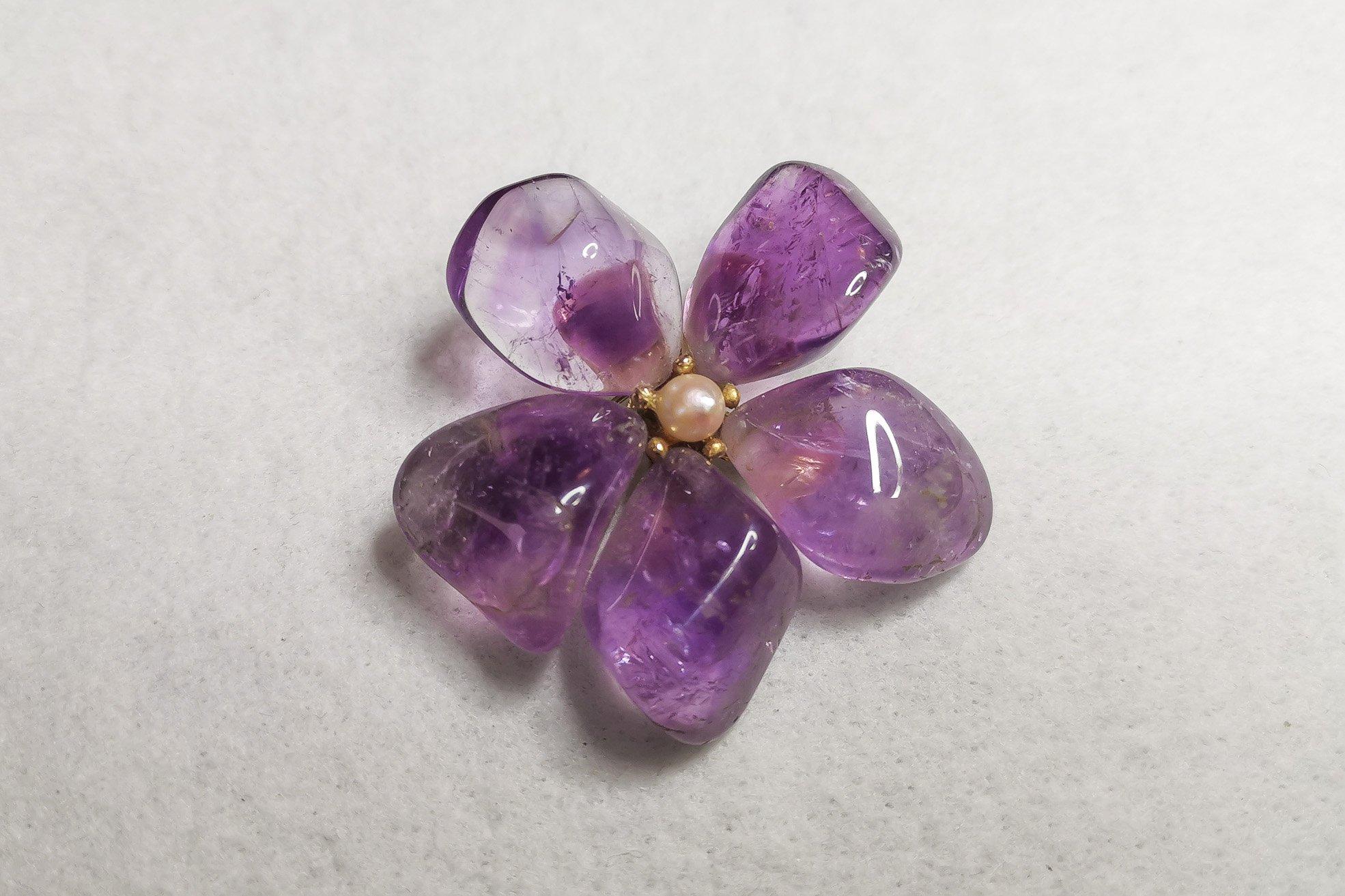 amethyst-flower-brooch