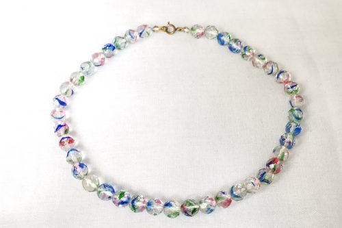 iris glass necklace