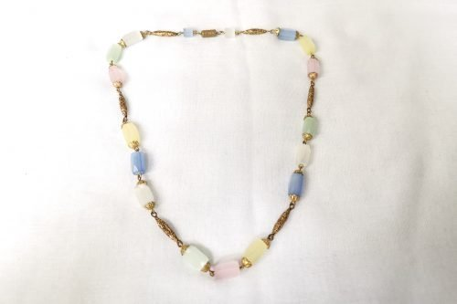 satin glass necklace