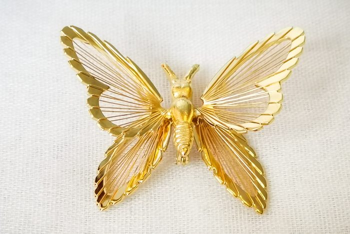 monet butterfly brooch