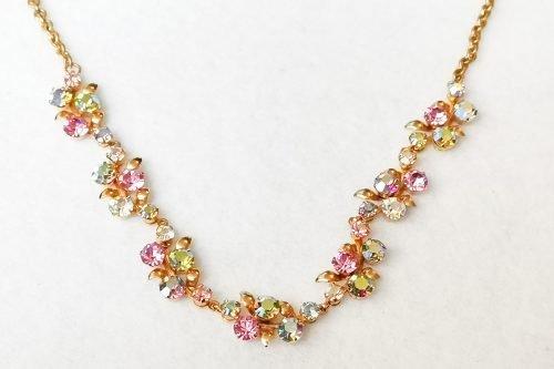 pastel rhinestone necklace