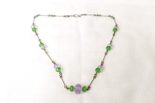 lavender green necklace