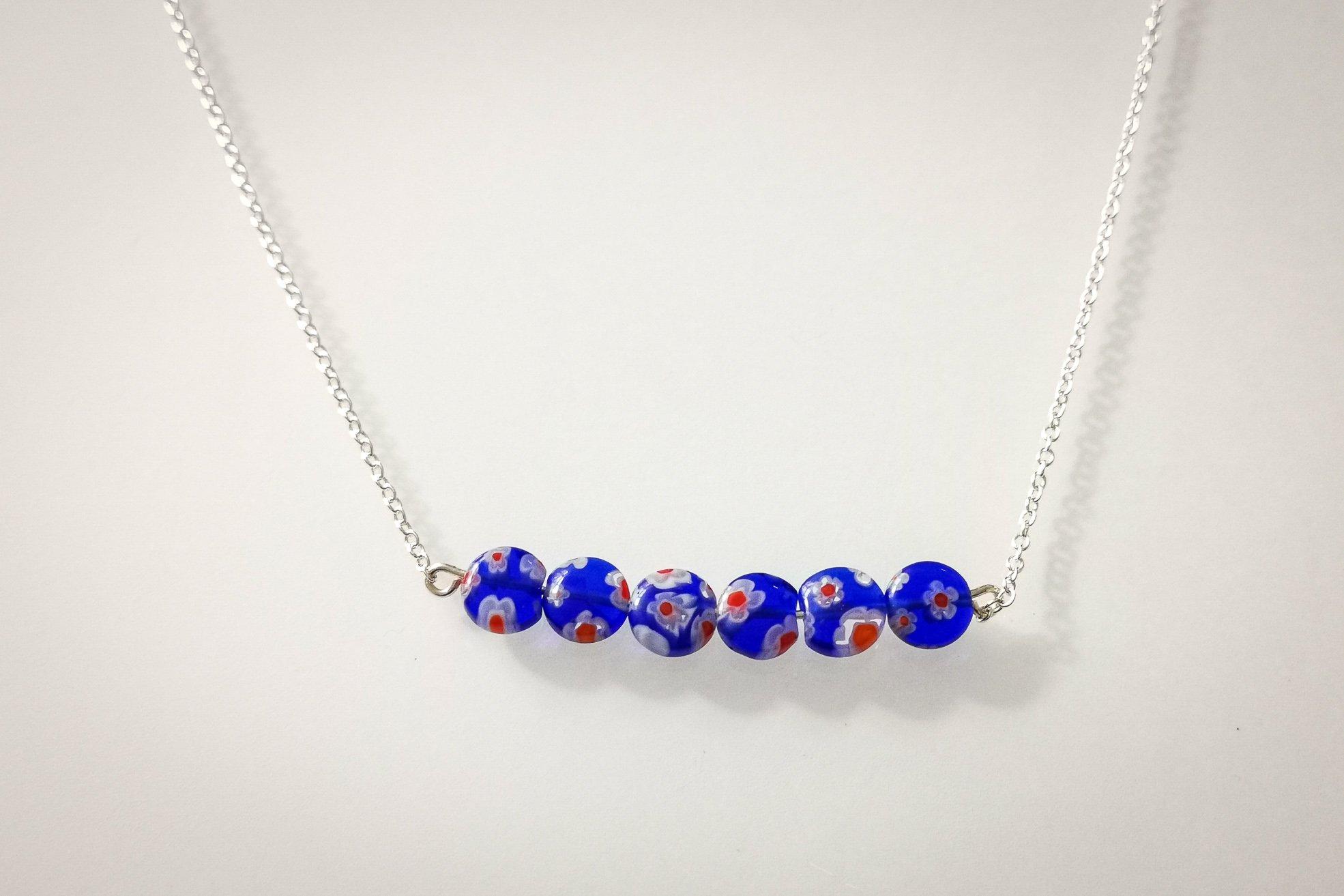 millefiori bar necklace