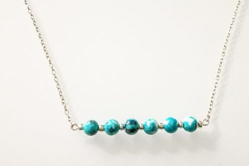 ocean jasper bar necklace