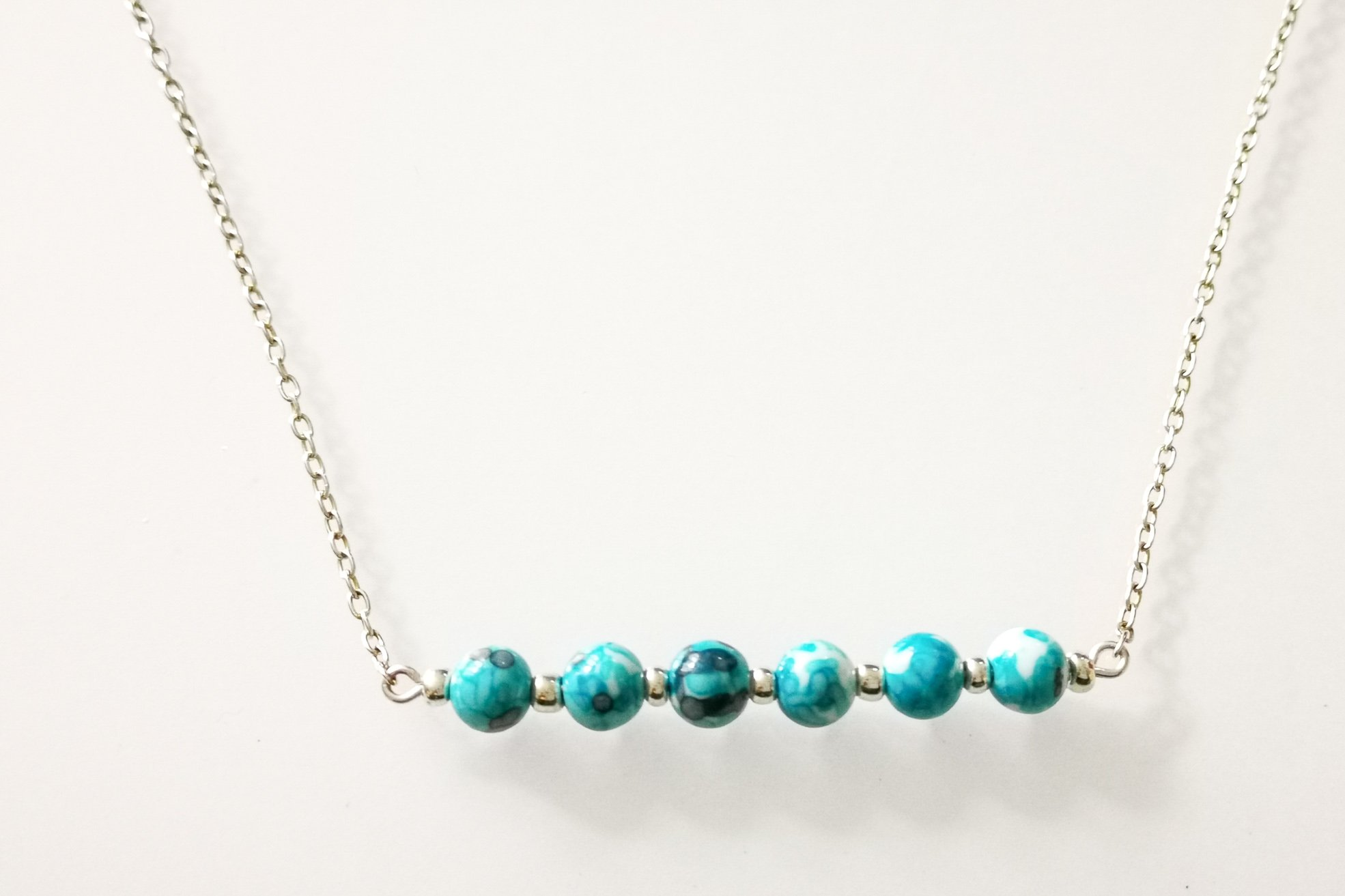 ocean jasper bar necklace