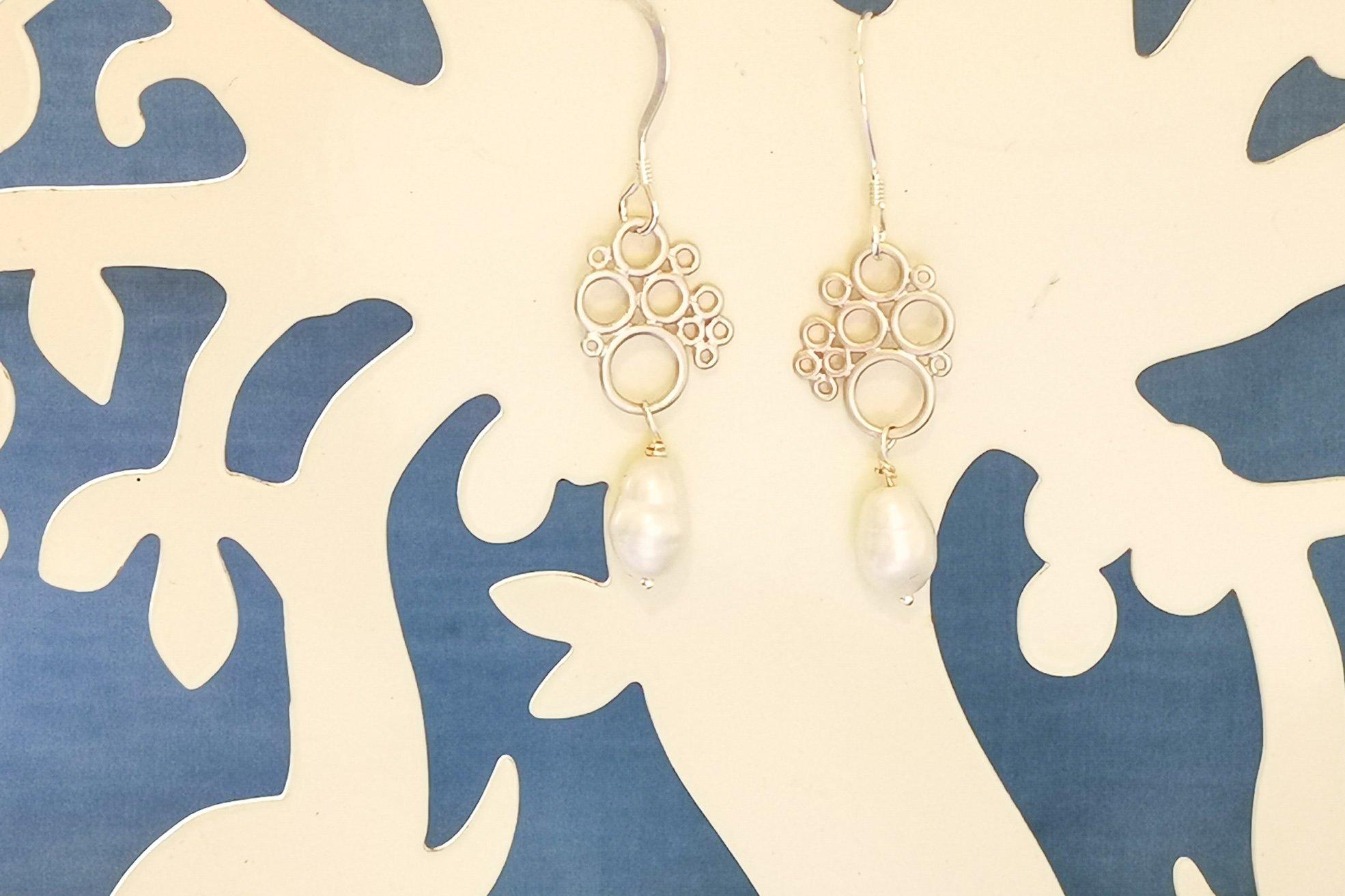 pearl bubble earrings