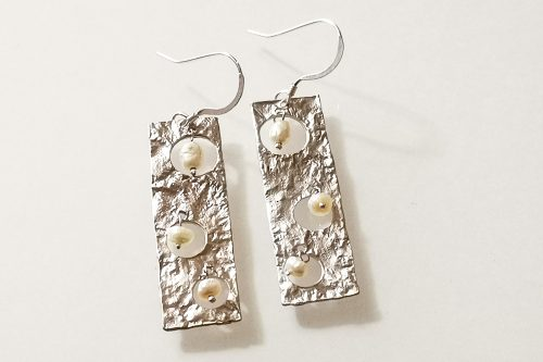 pearl-drop earrings
