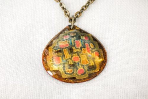 enamel pendant