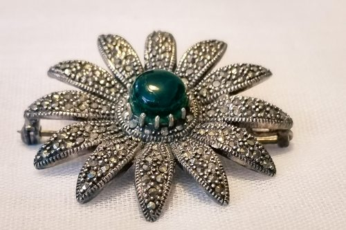 silver marcasite brooch