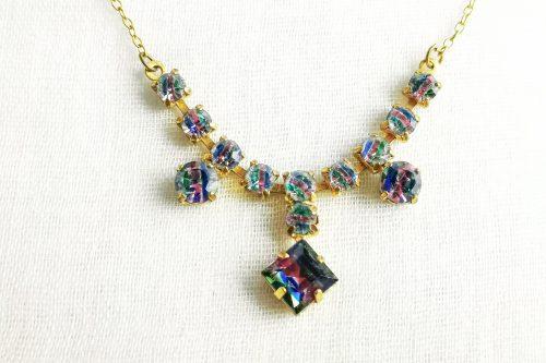 iris glass necklace