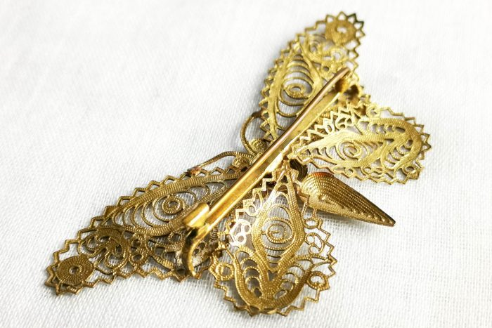 filigree butterfly brooch