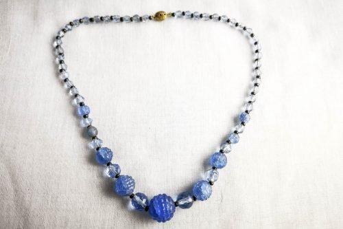 pale blue bobble glass necklace