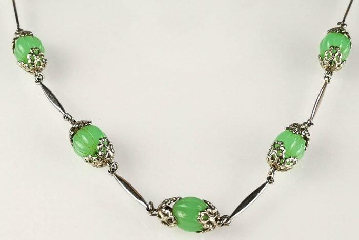 neiger uranium glass necklace