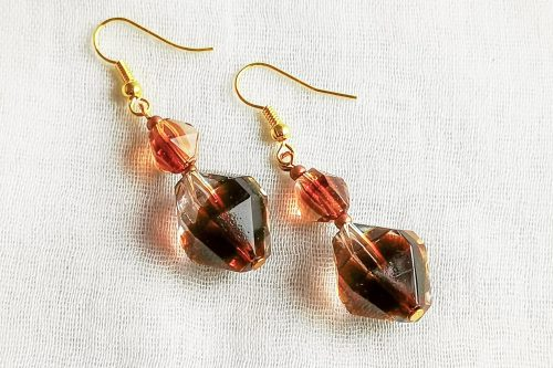 root beer earrings