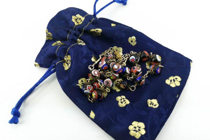millefiori bead necklace