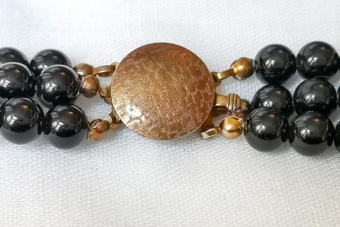 black faux tortoiseshell necklace